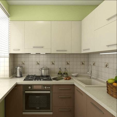 небольшая кухня в 6 м.кв.