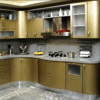 Кухня с акриловым камнем