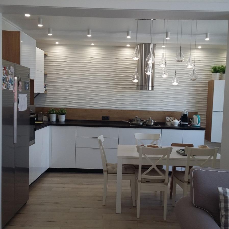 Кухня с 3д панелью